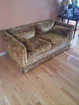 spotted vintage floral velvet sofa love seat 200 spotted