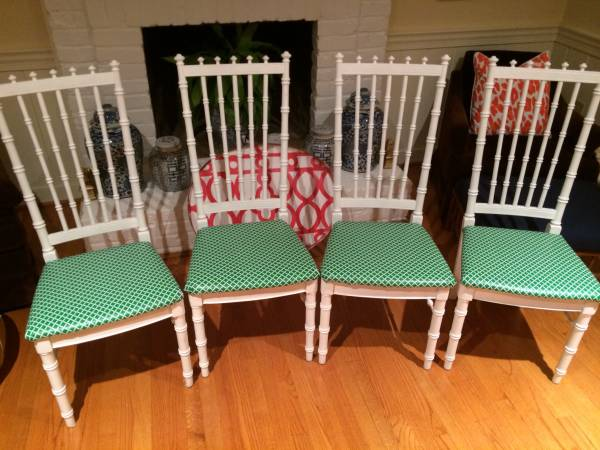 spotted set of 4 white bamboo chairs 175 spotted